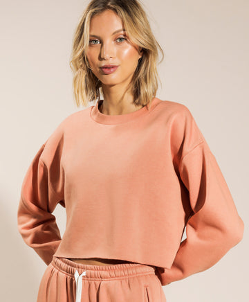Carter Classic Crop Sweater in Terracotta