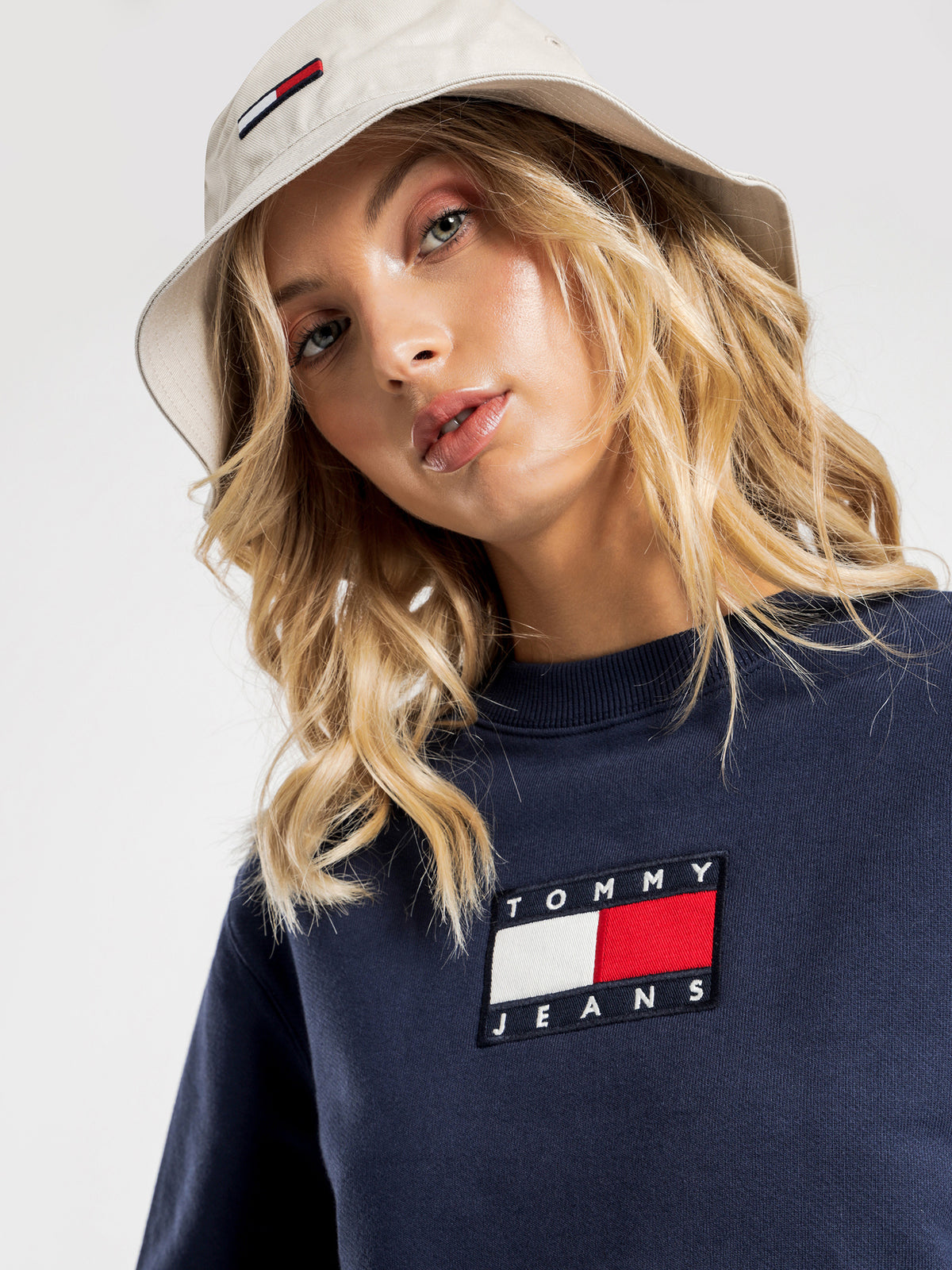 Tommy Flag Crew in Twilight Navy