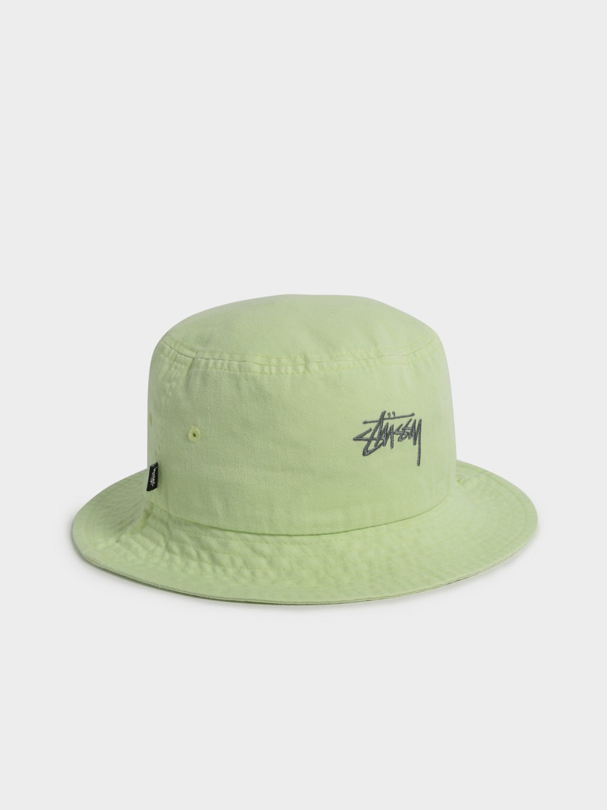 Stock Bucket Hat in Lime