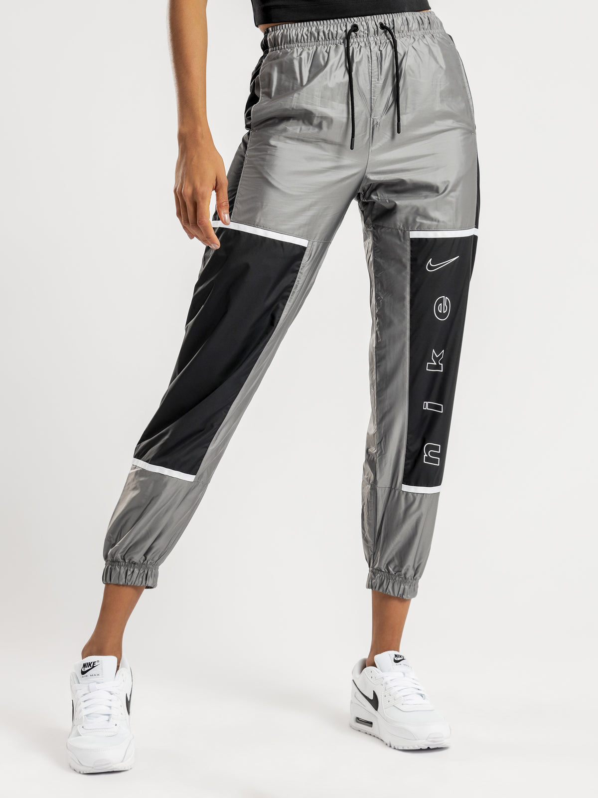 Sportswear Woven Trackpants in Black