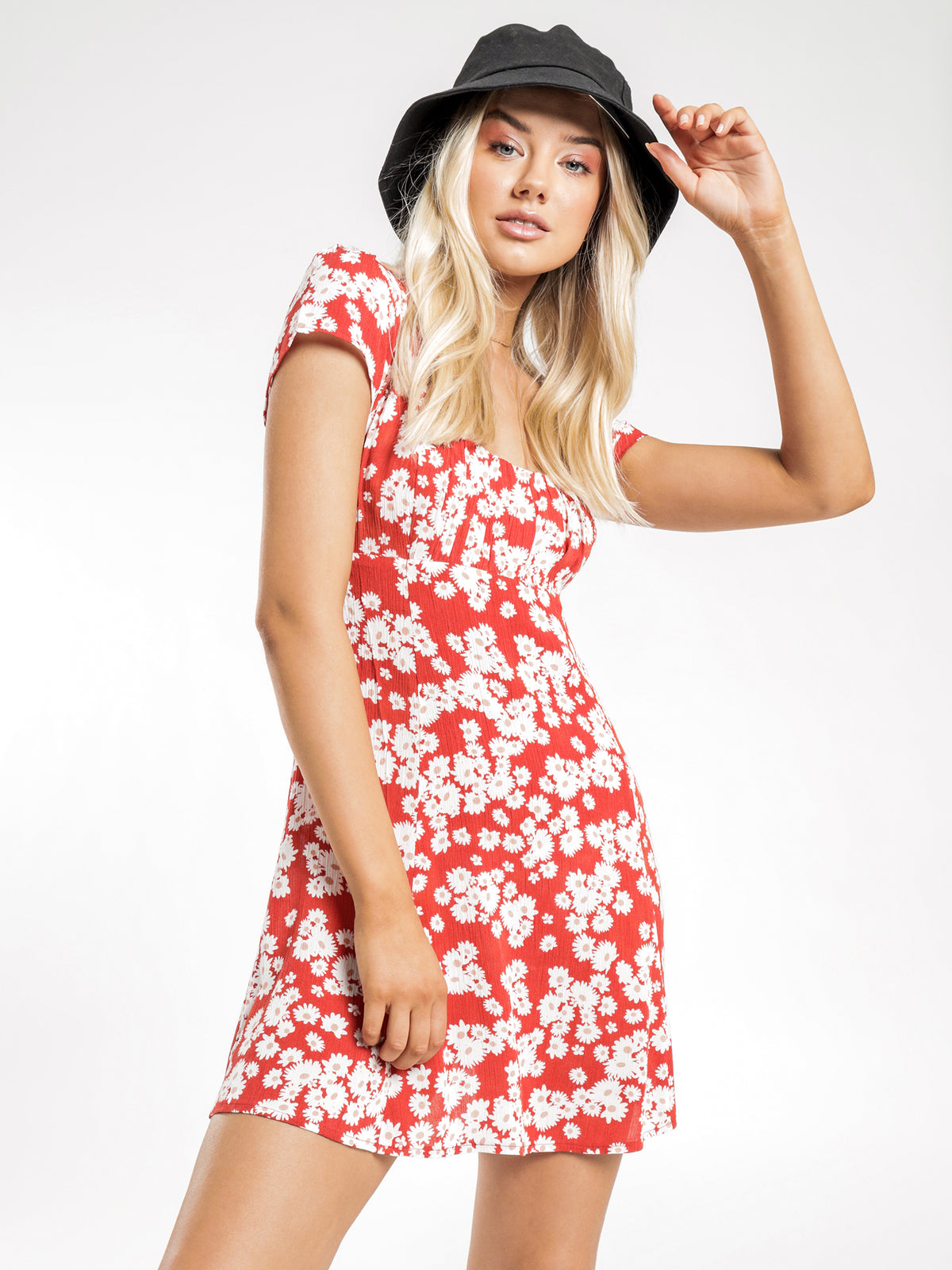 Paloma Mini Dress in Red Floral