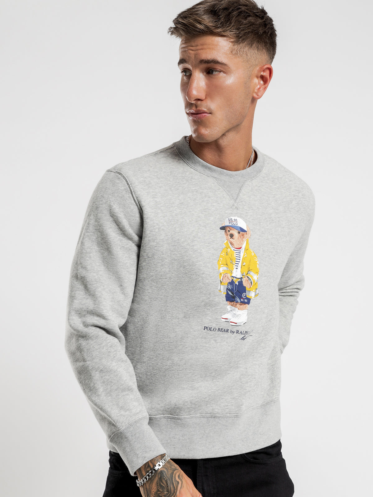 Polo Bear Magic Fleece Sweater in Grey