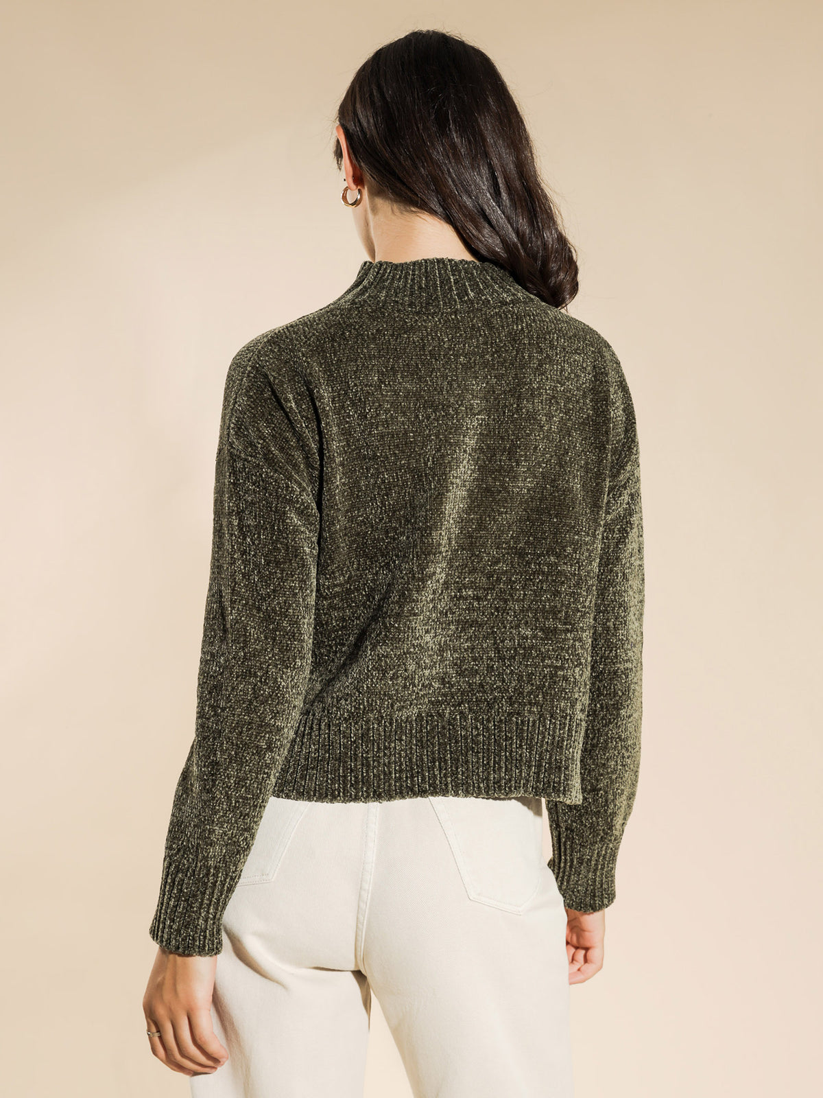 Hilda Chenille Knit in Olive