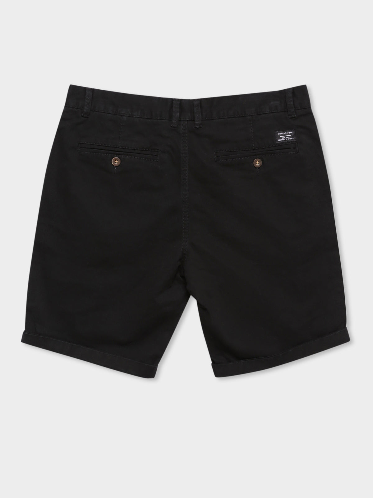 Hunter Chino Shorts in Black