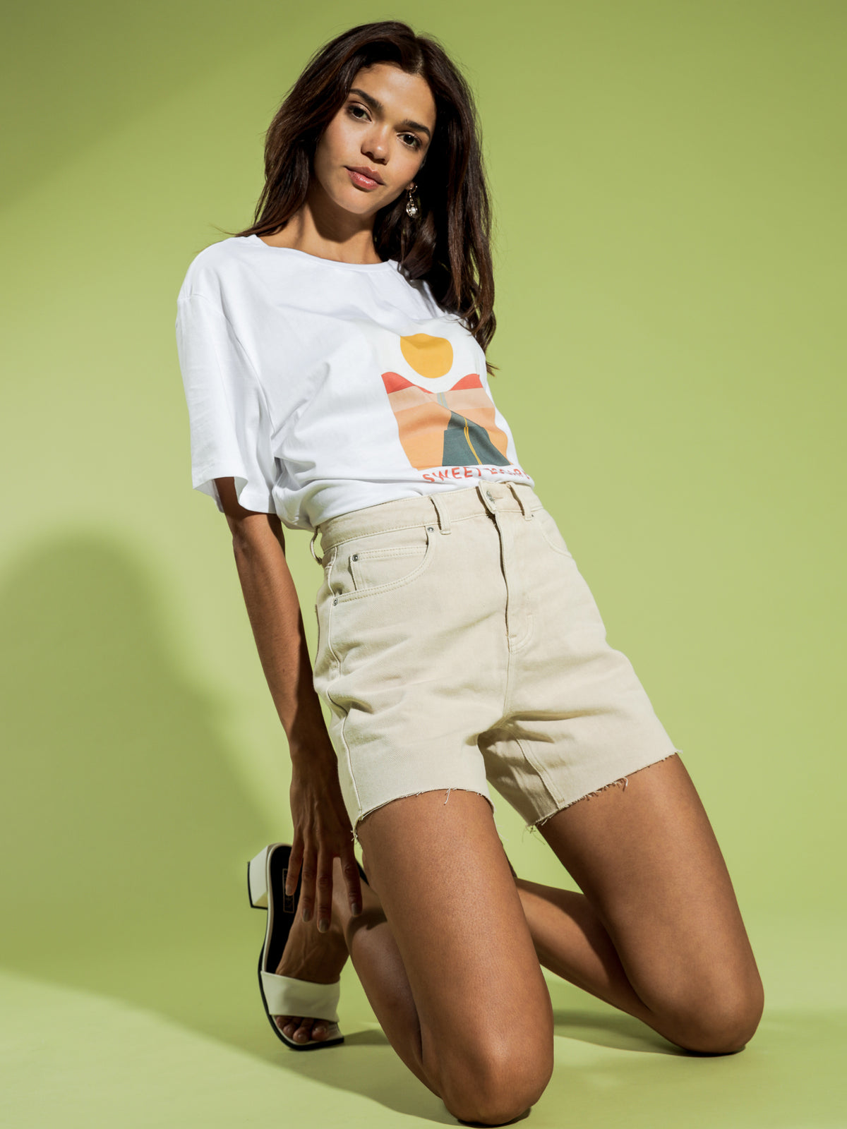 Sweet Escape Oversized Boyfriend T-Shirt in White