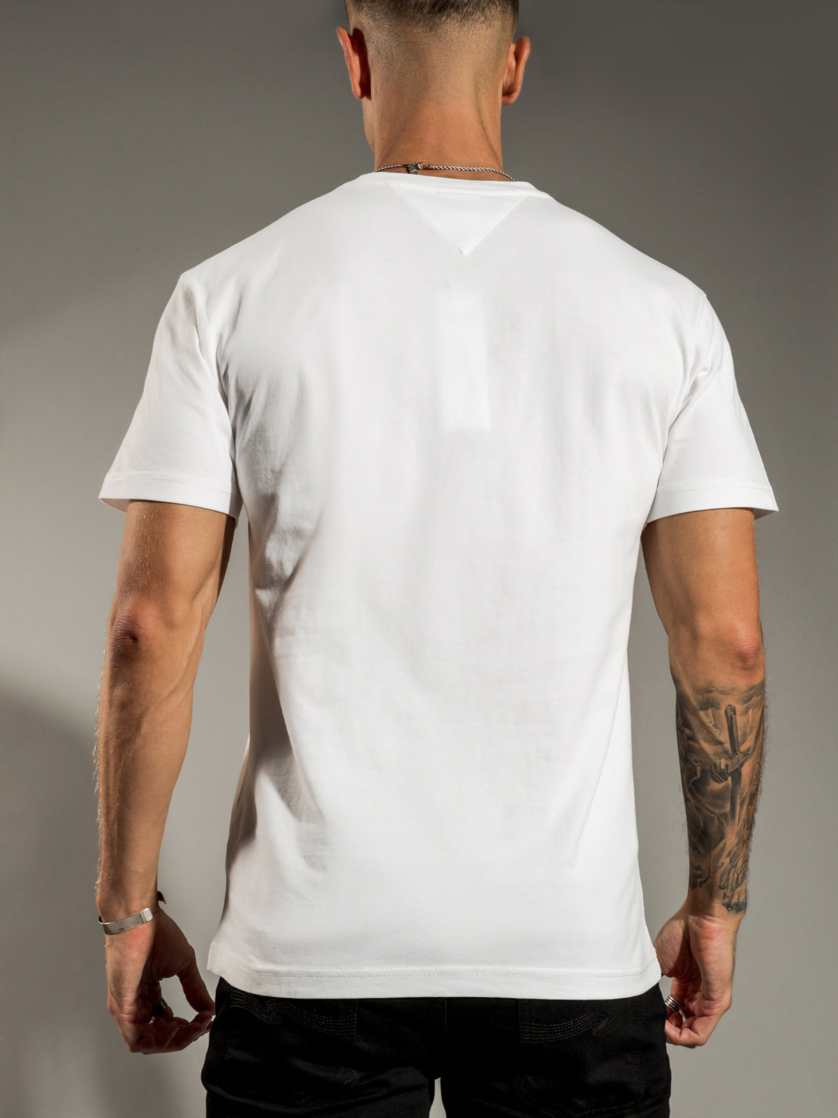 Embroidered Mountain T-Shirt In White