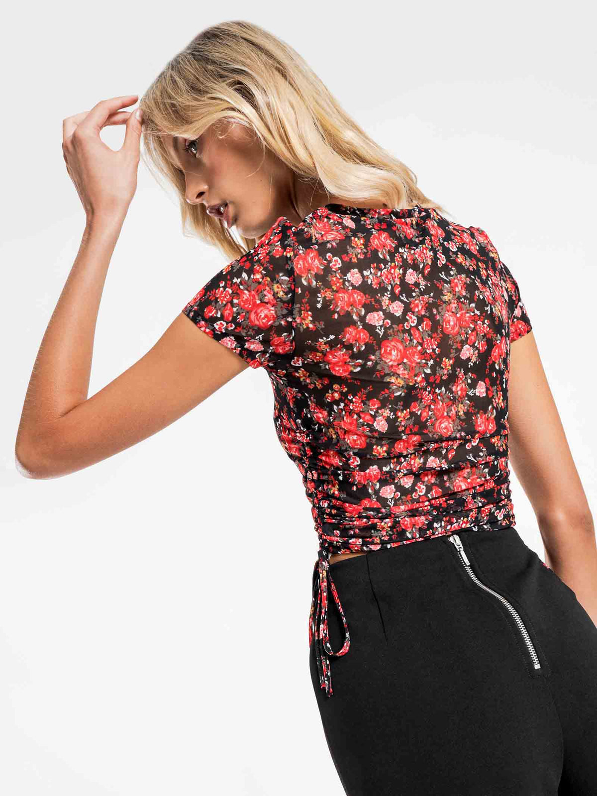 Cleo Mesh T-Shirt in Floral
