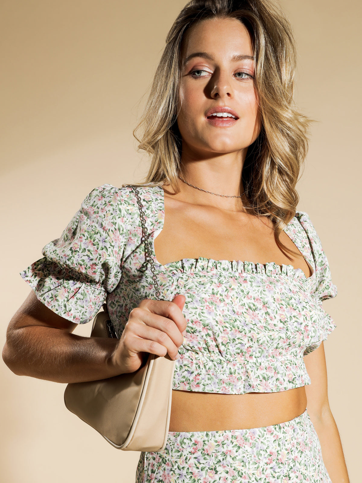 Eve Top in Spring Floral