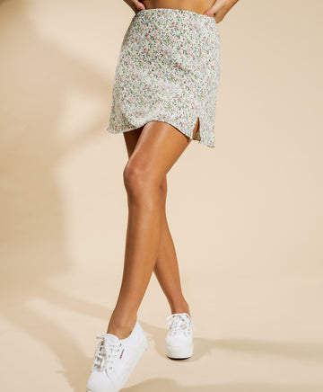 Eve Mini Skirt in Spring Floral