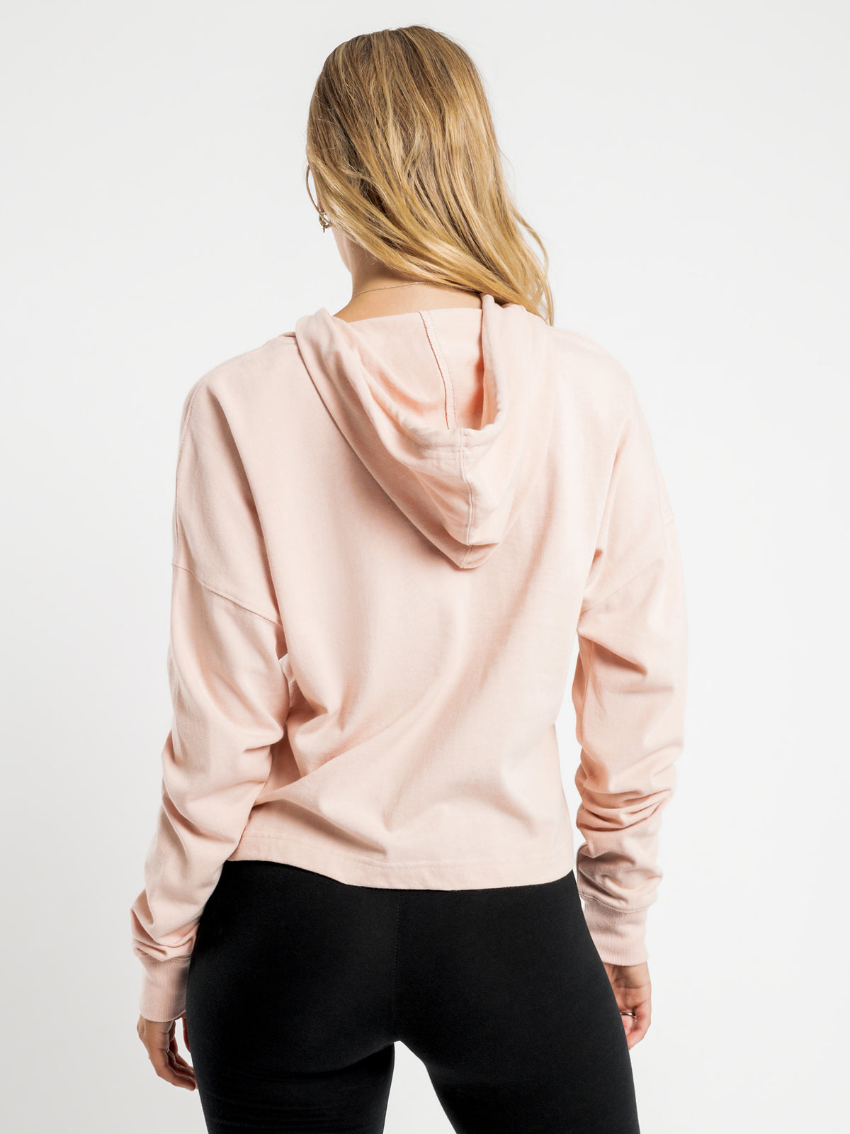 Heritage Jersey Hoodie in Blushing Peach
