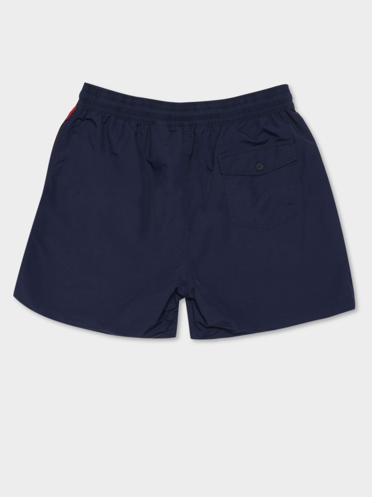 Traveller Swim Shorts in Navy, Red & White