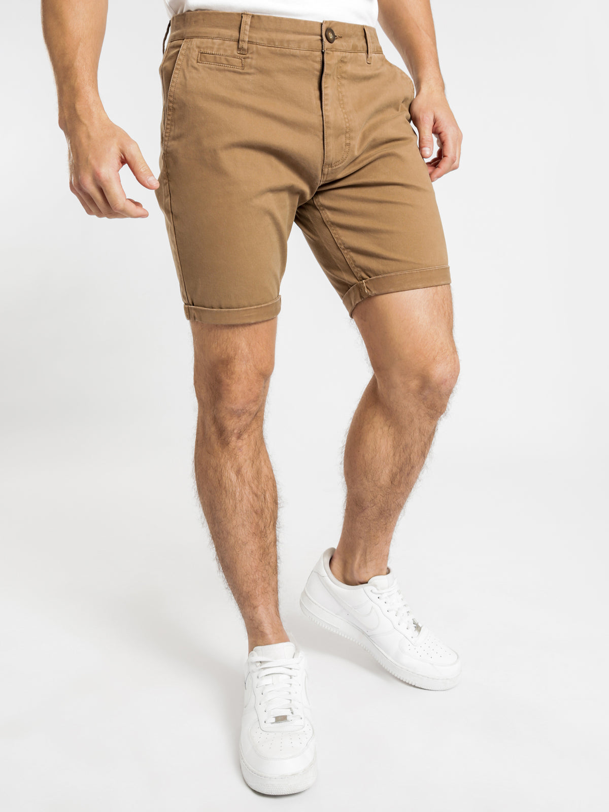 Hunter Chino Shorts in Tan