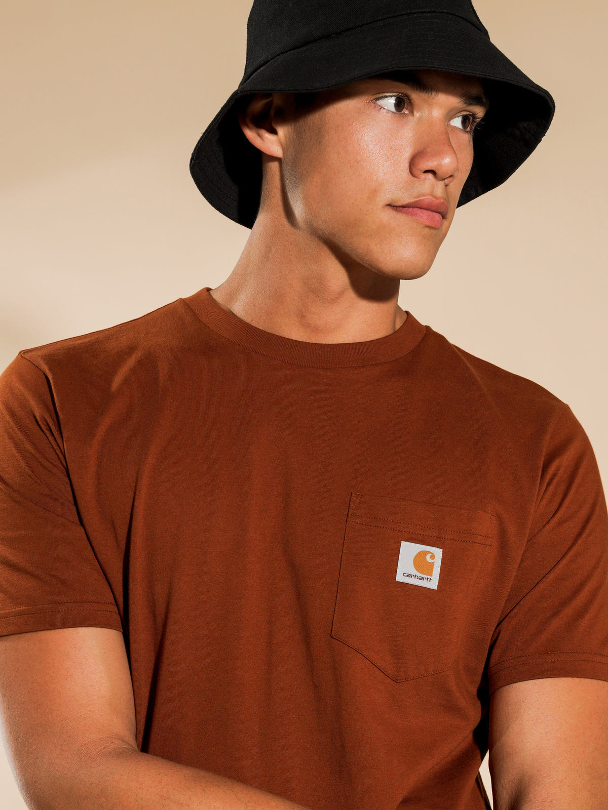 Pocket T-Shirt in Brandy