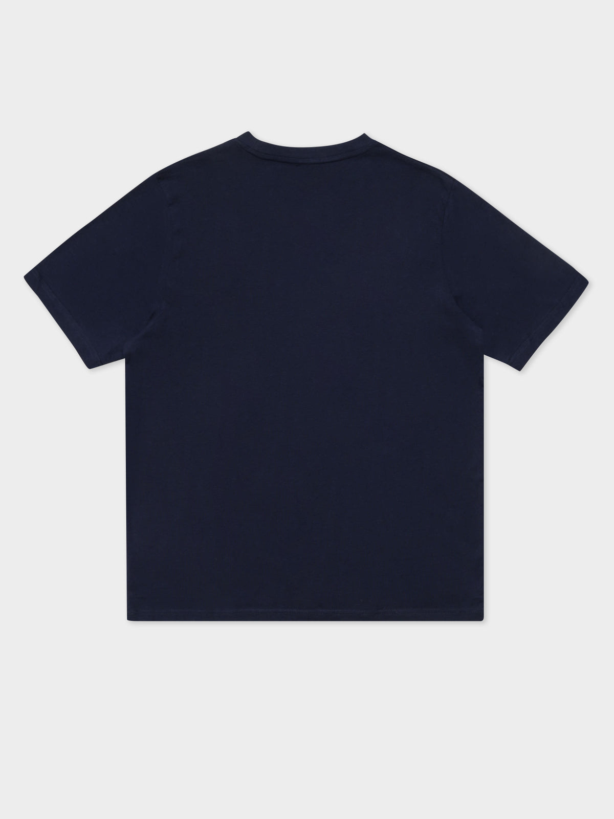 Logo Fleece Caferok T-Shirt in Navy