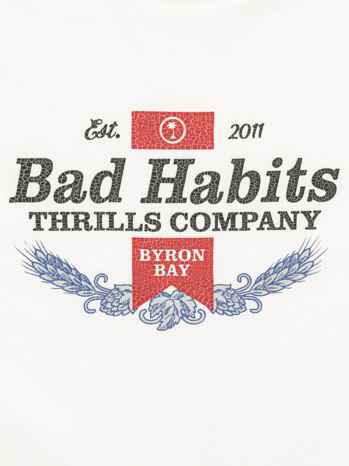 Bad Habits Merch T-Shirt in Dirty White