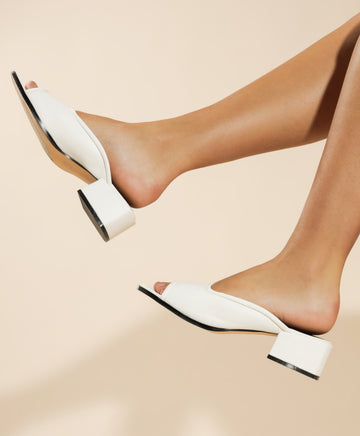 Womens Octavia Heels in White