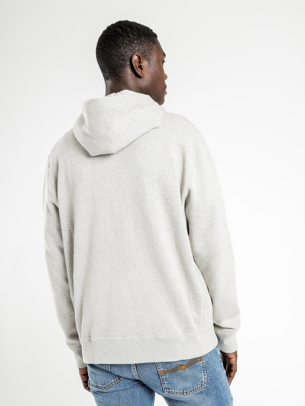 Classic Full Zip Hooded Fleece Jacket in Grey