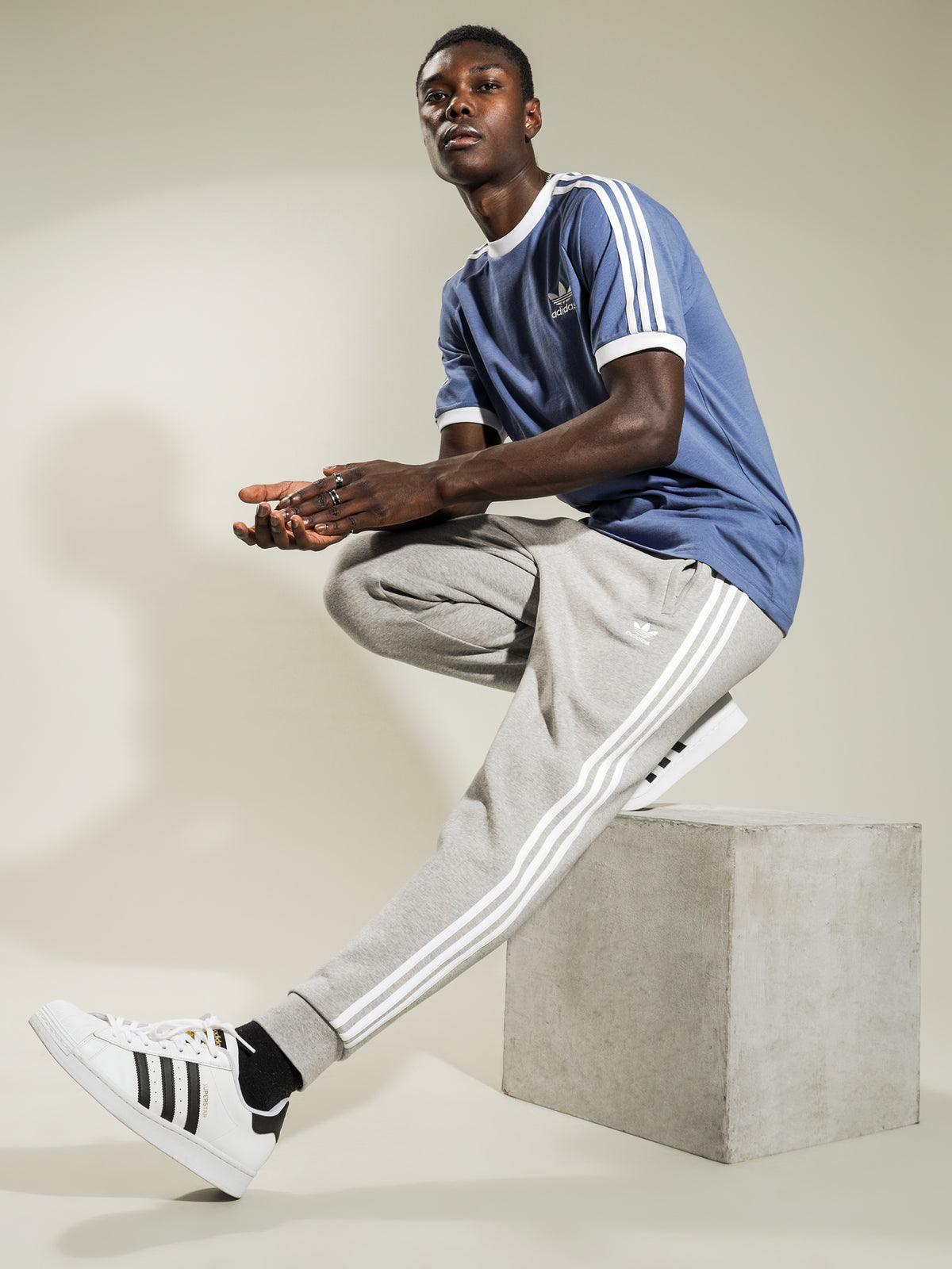 3 Stripes Track Pants in Grey