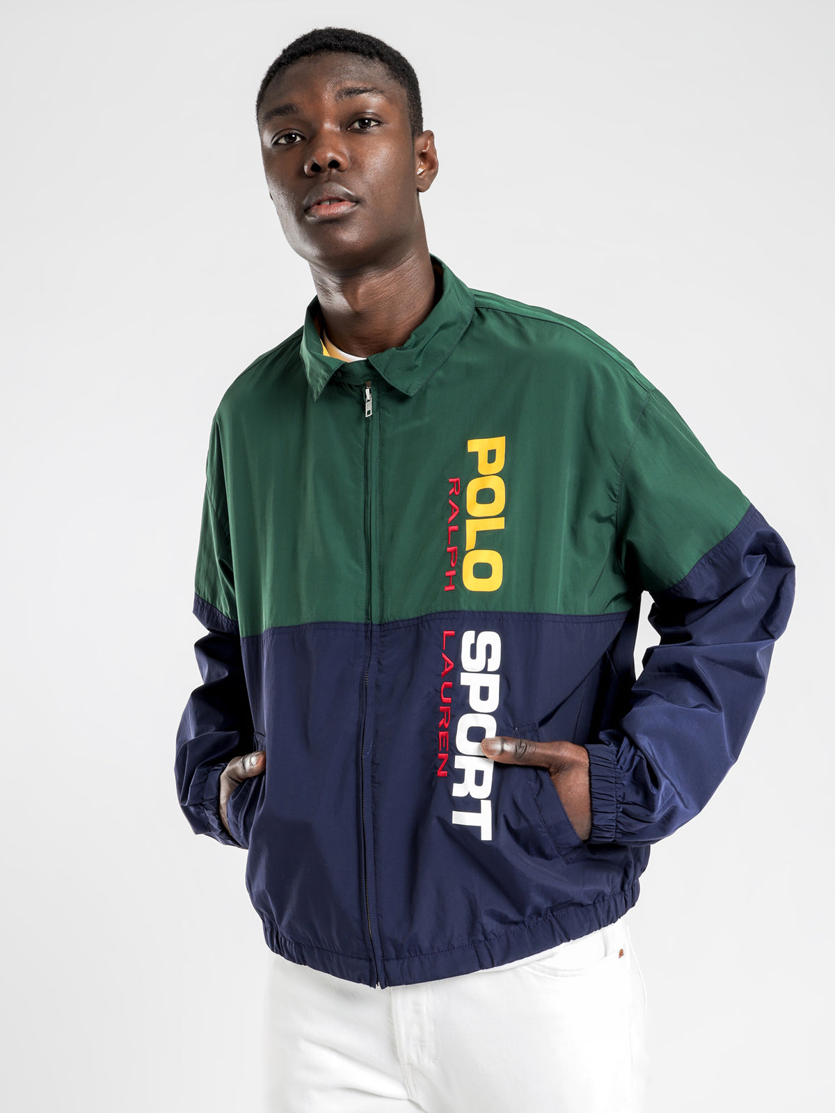 Classic Windbreaker Jacket in Navy