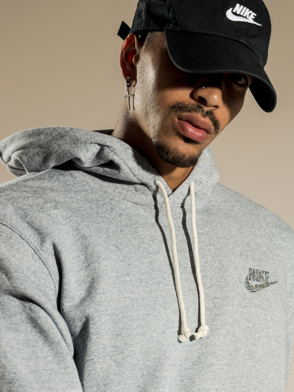 Mens NSW Pullover Hoodie in Grey