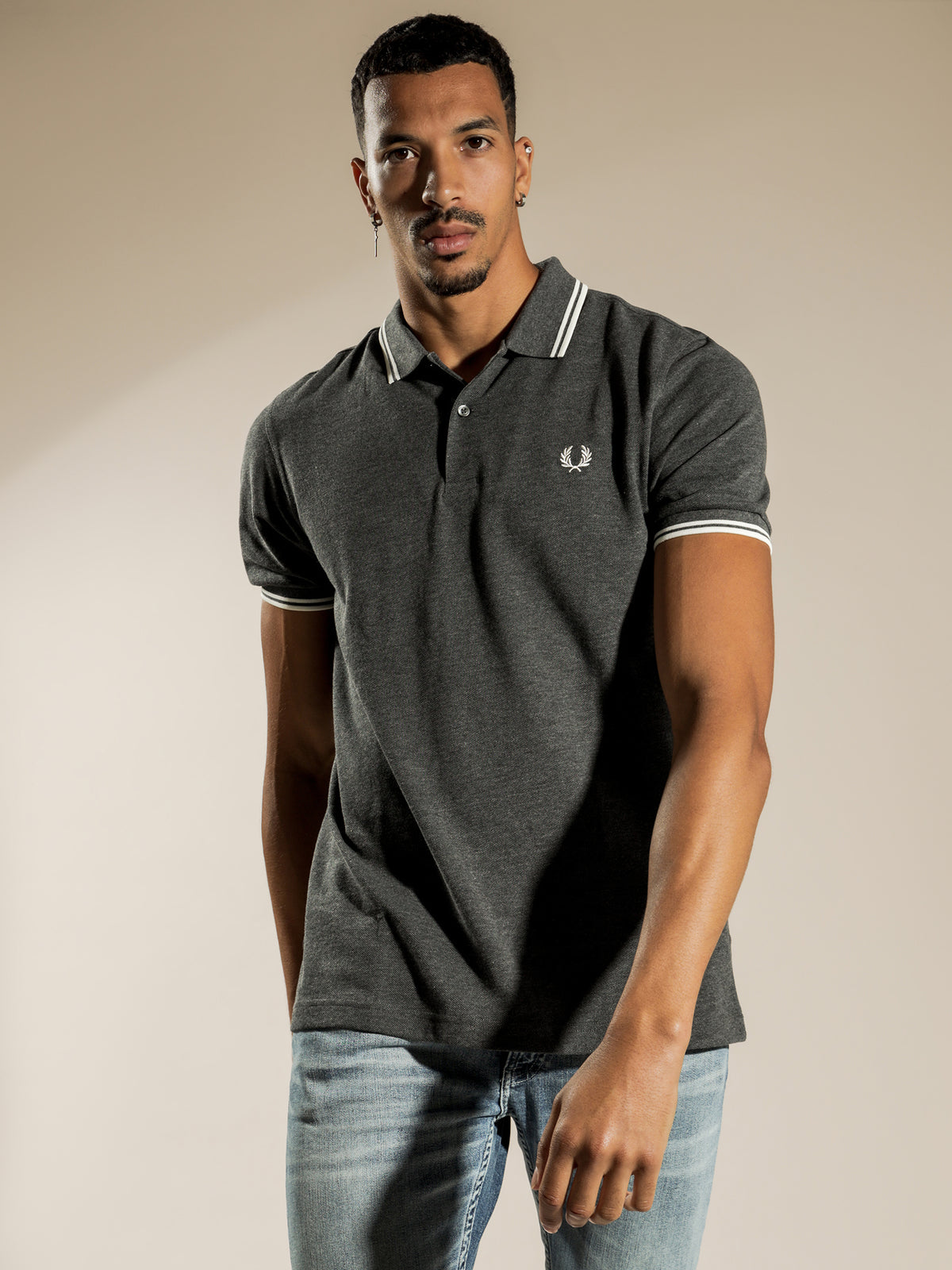 Twin Tipped Polo in Charcoal M