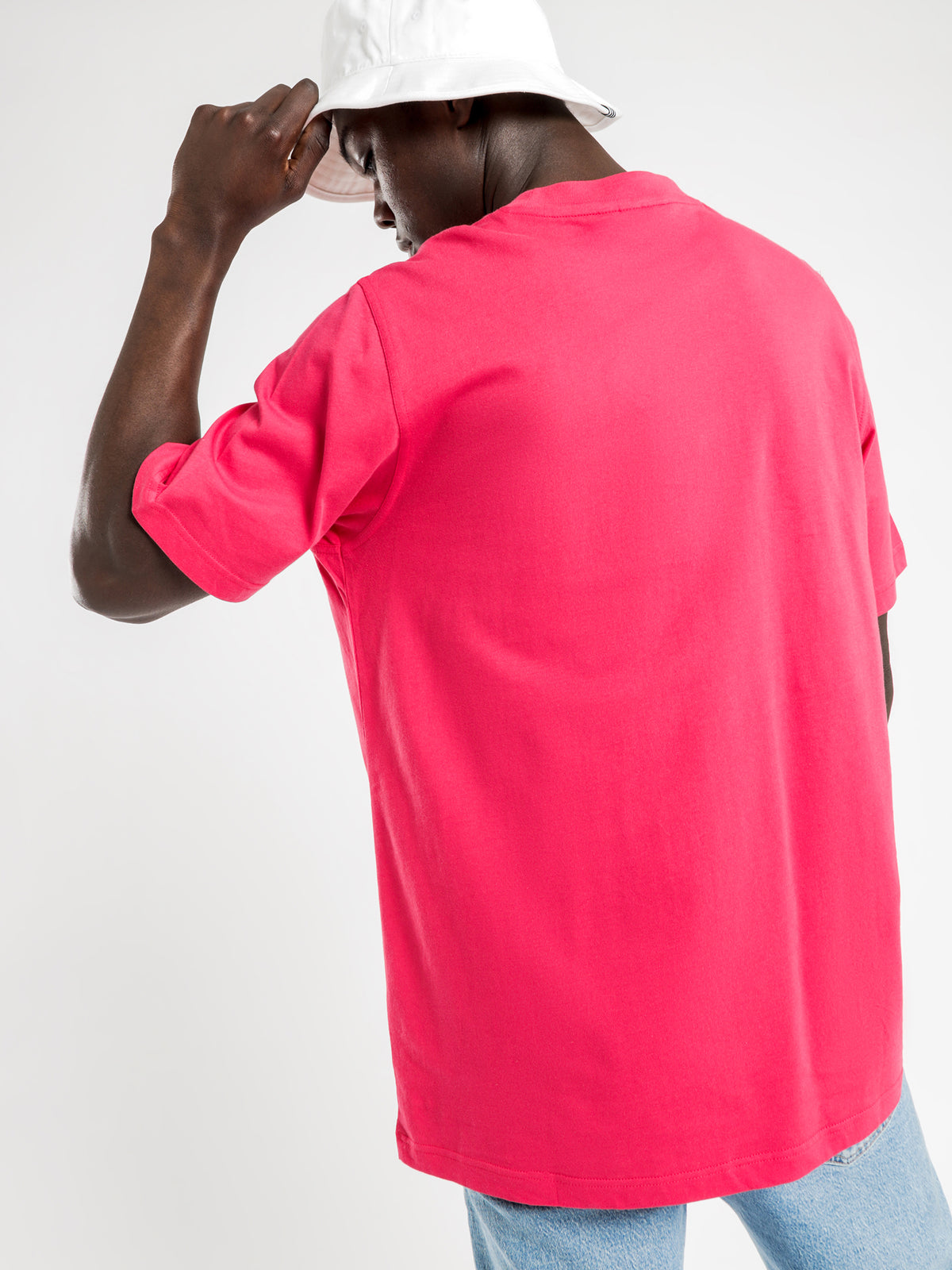 Trefoil Outline T-Shirt in Power Pink