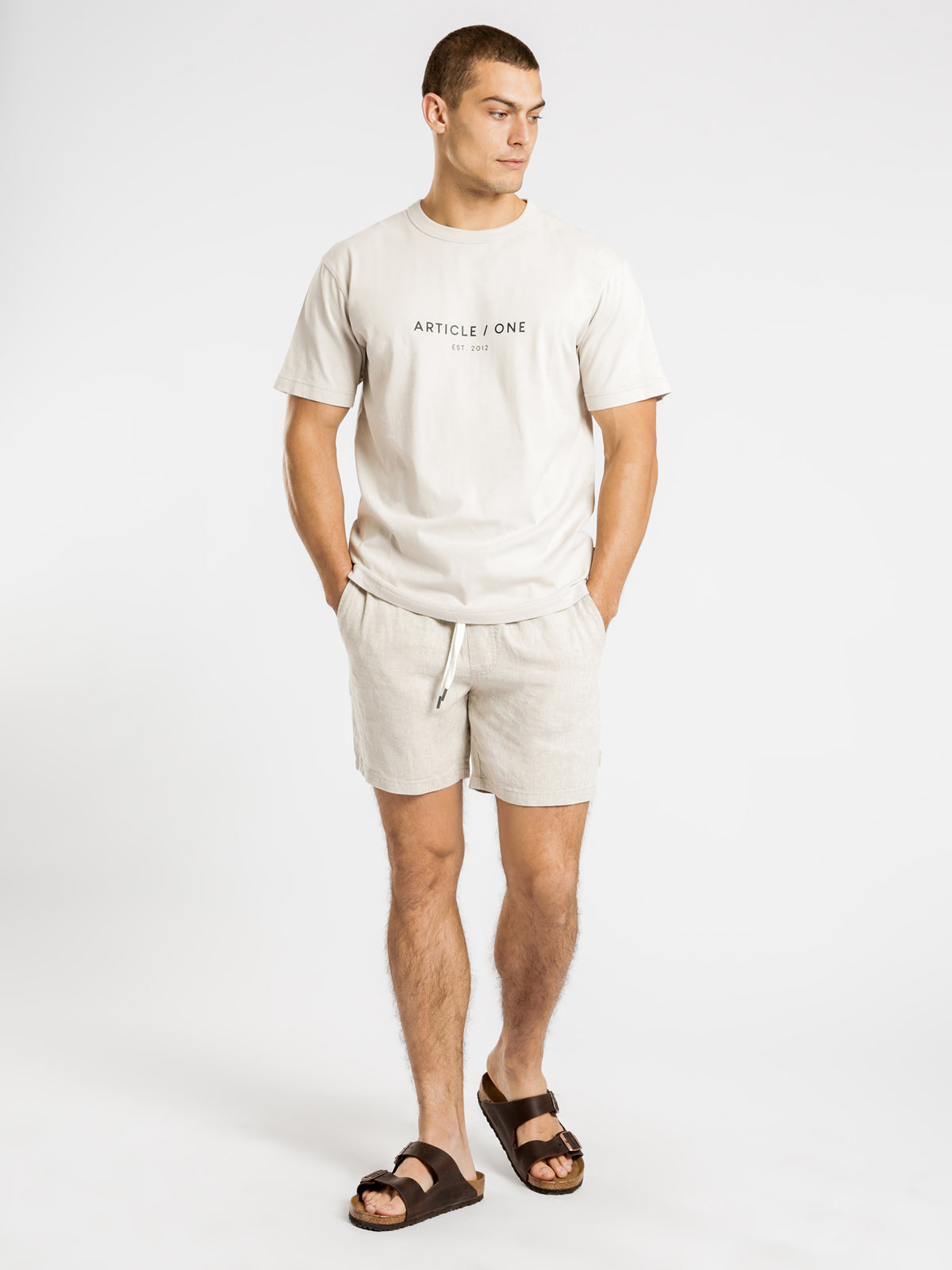 Classic Logo Short Sleeve T-Shirt in Ecru