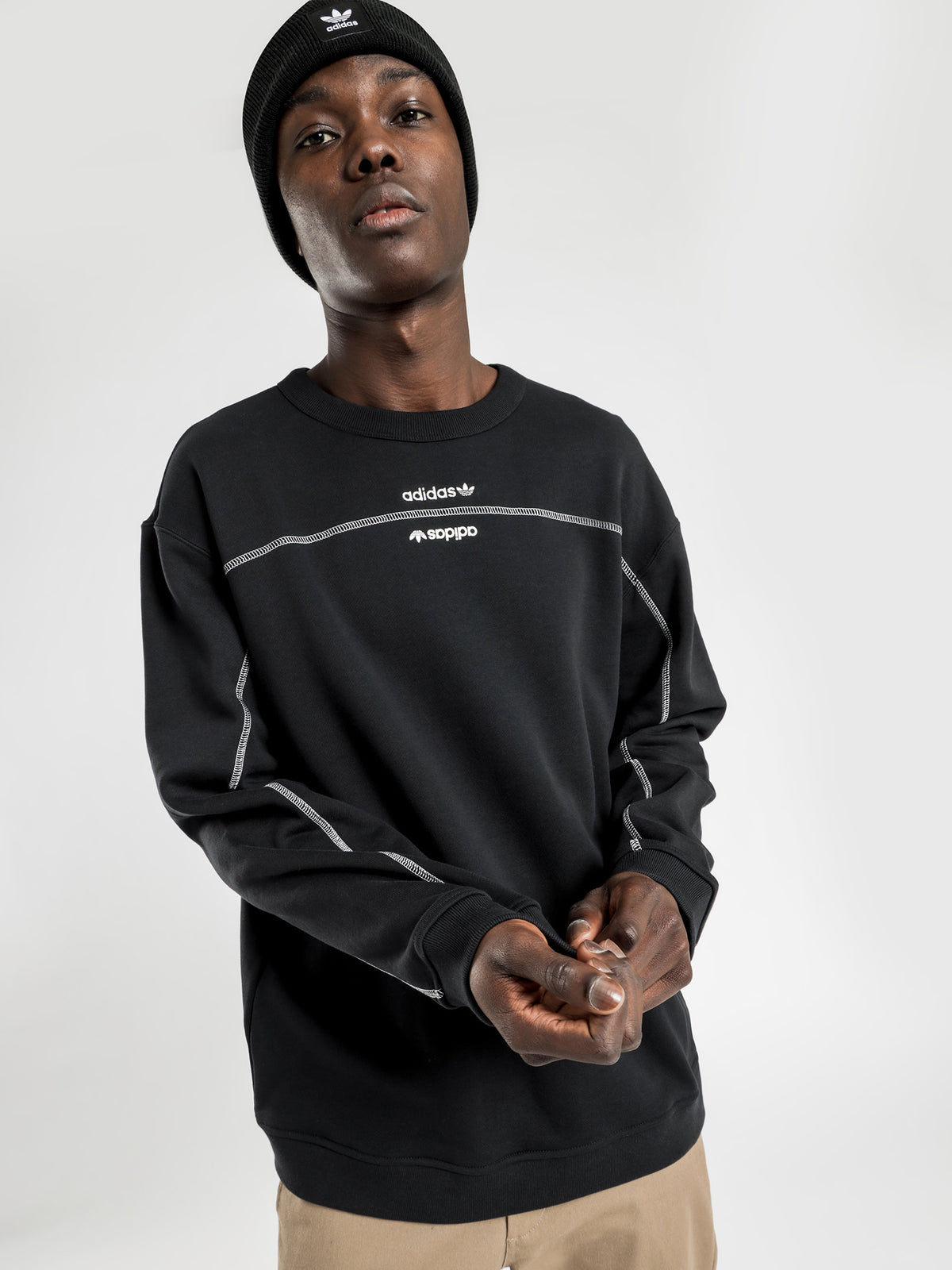 Adidas Crew Sweatshirt in Black