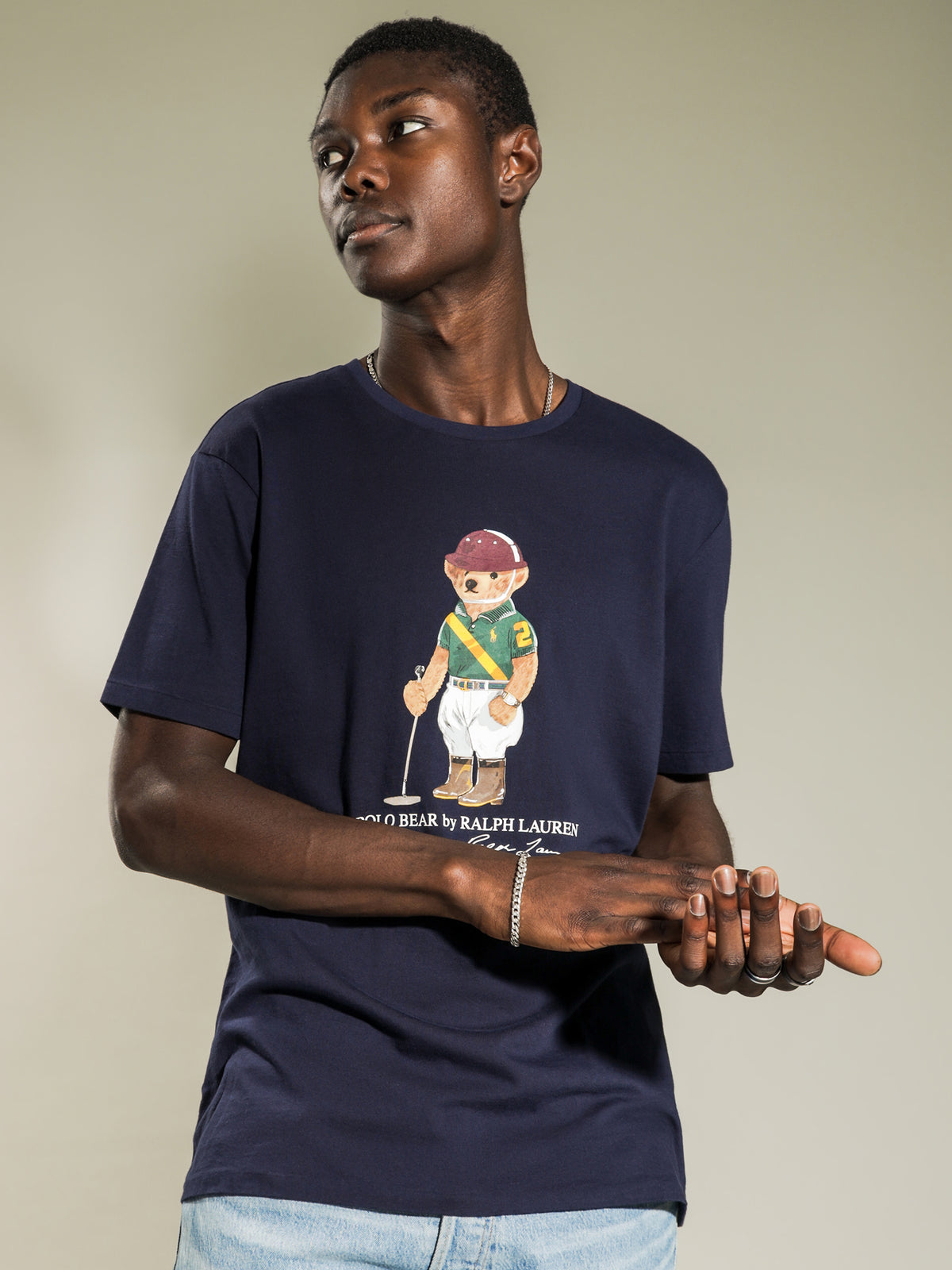 Polo Bear Short Sleeve T-Shirt in Navy