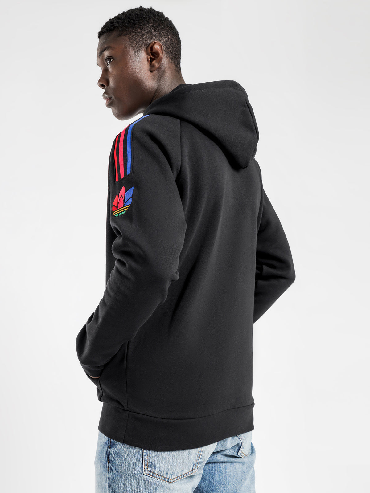 Adicolour 3D Trefoil 3 - Stripes Hoodie in Black