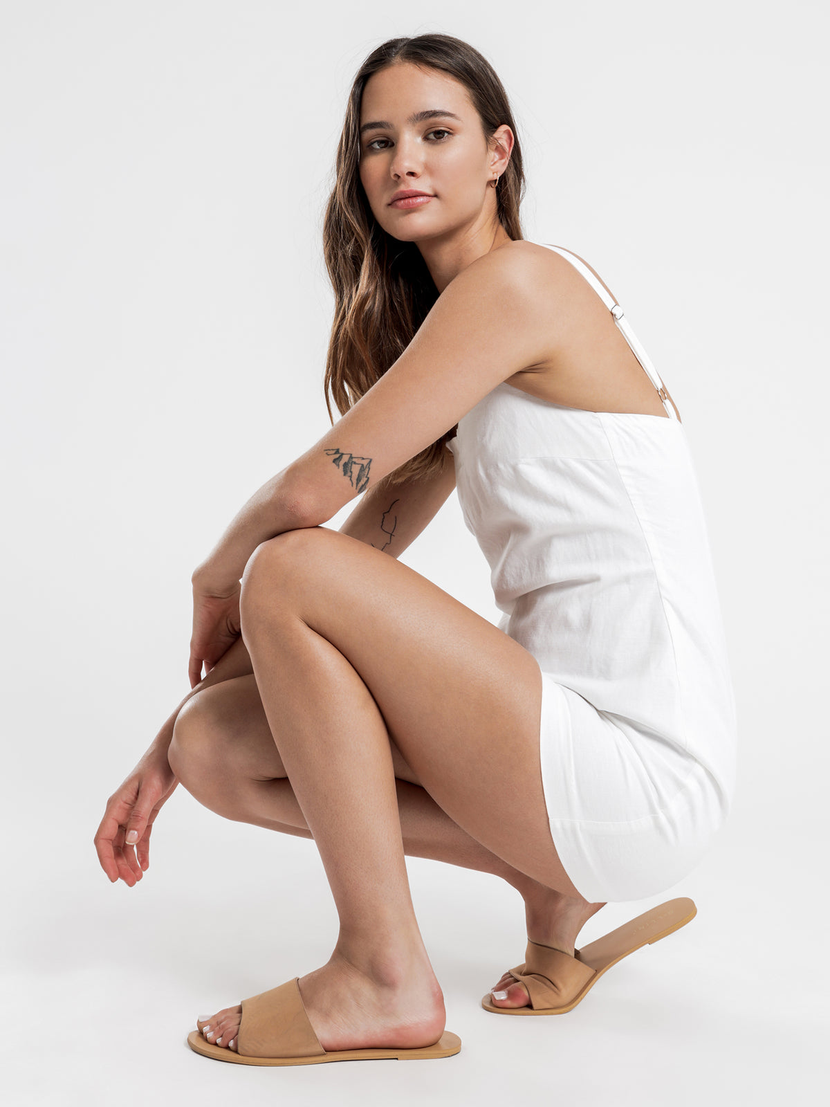 Miles Mini Dress in White