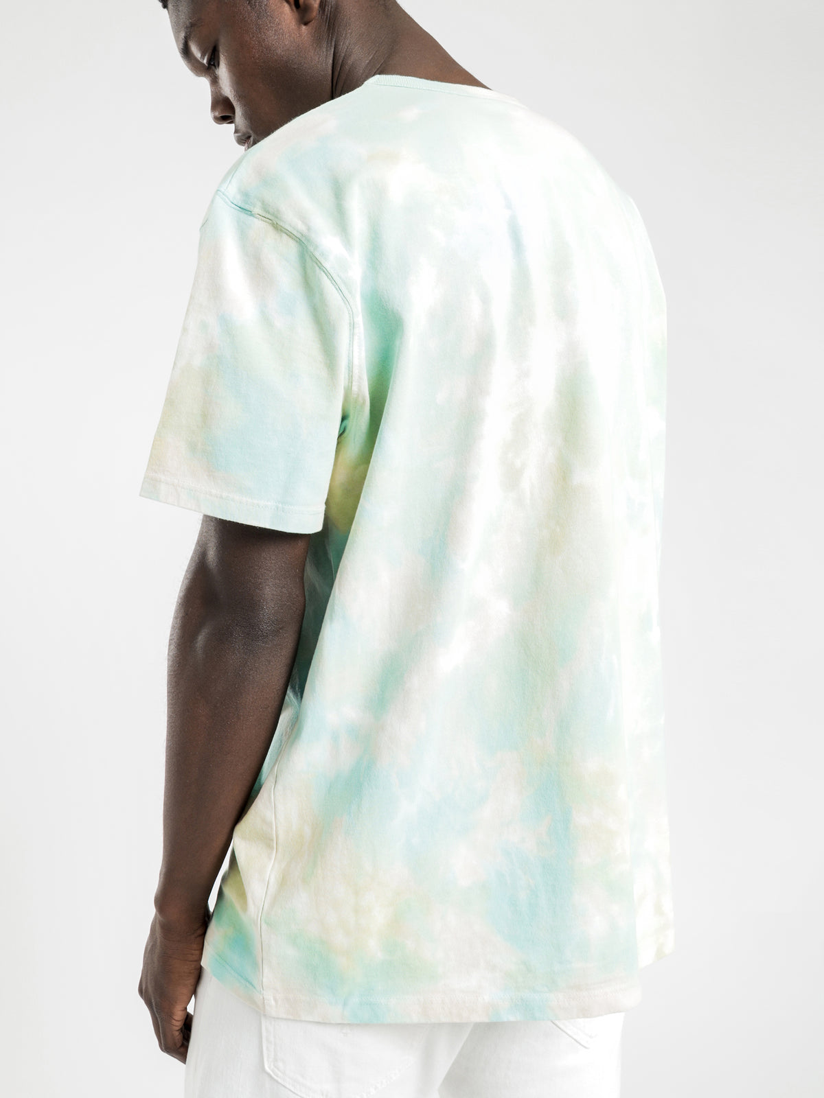 Heritage Cloud Dye T-Shirt in Peach