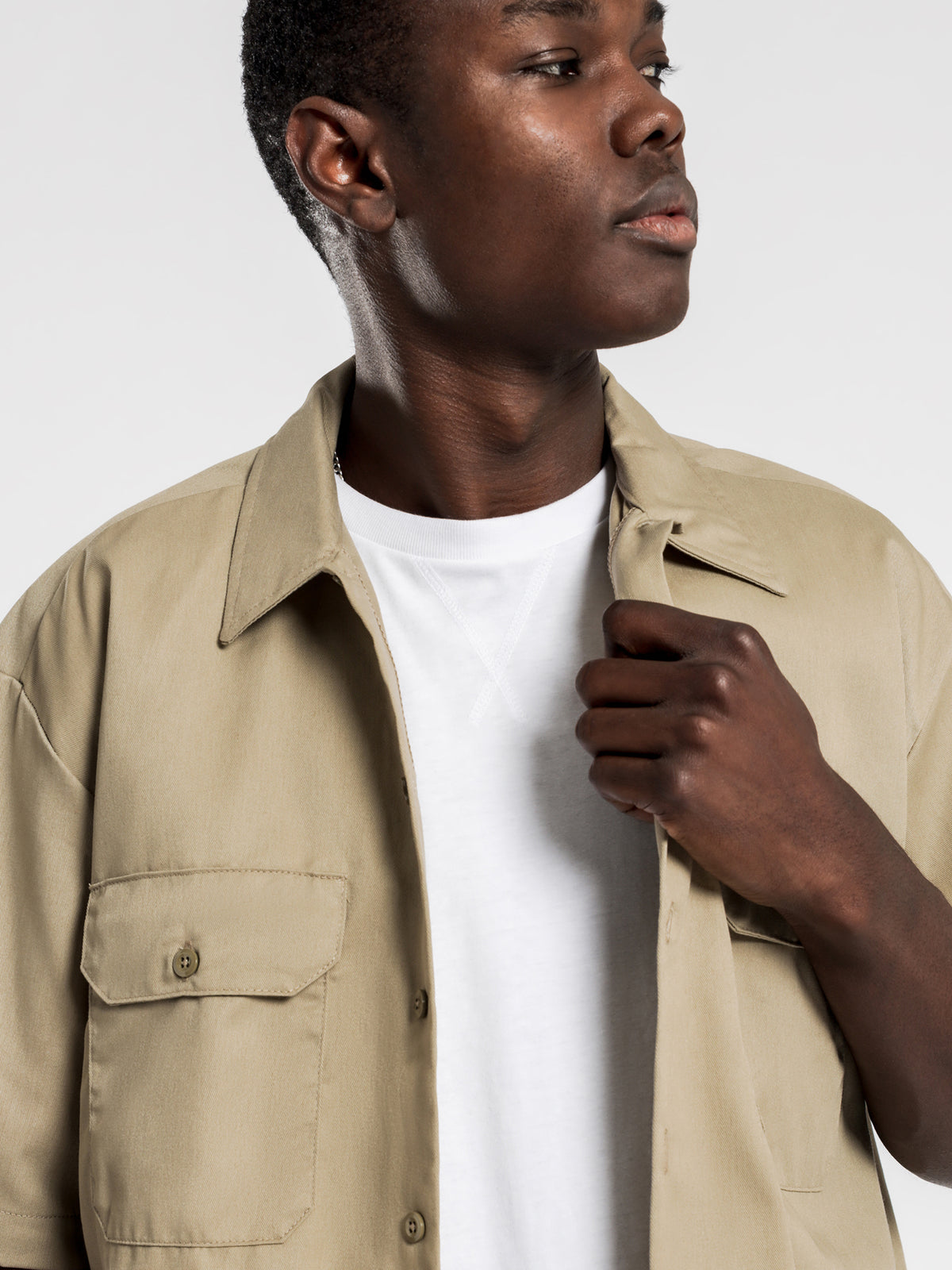 1574 Short Sleeve Shirt in Khaki