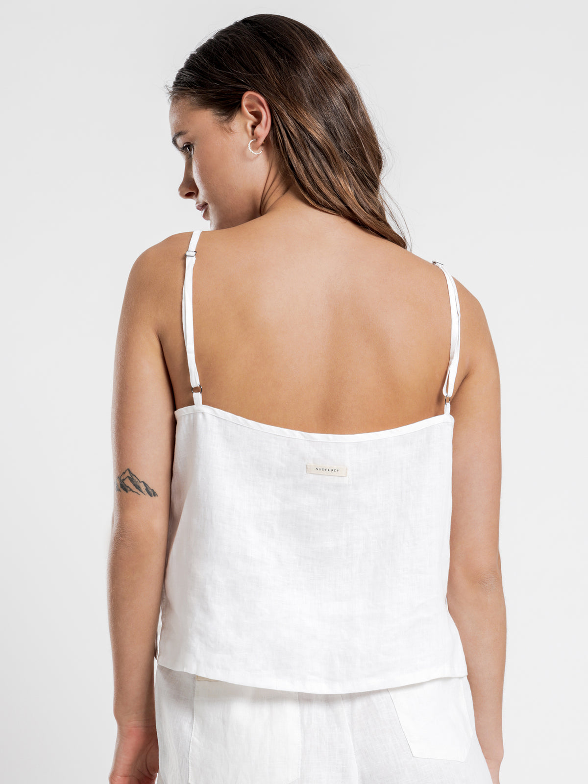 Linen Lounge Cami in White