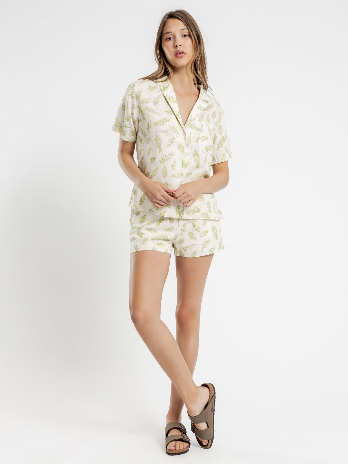 Dillion Shirt in Fern Print