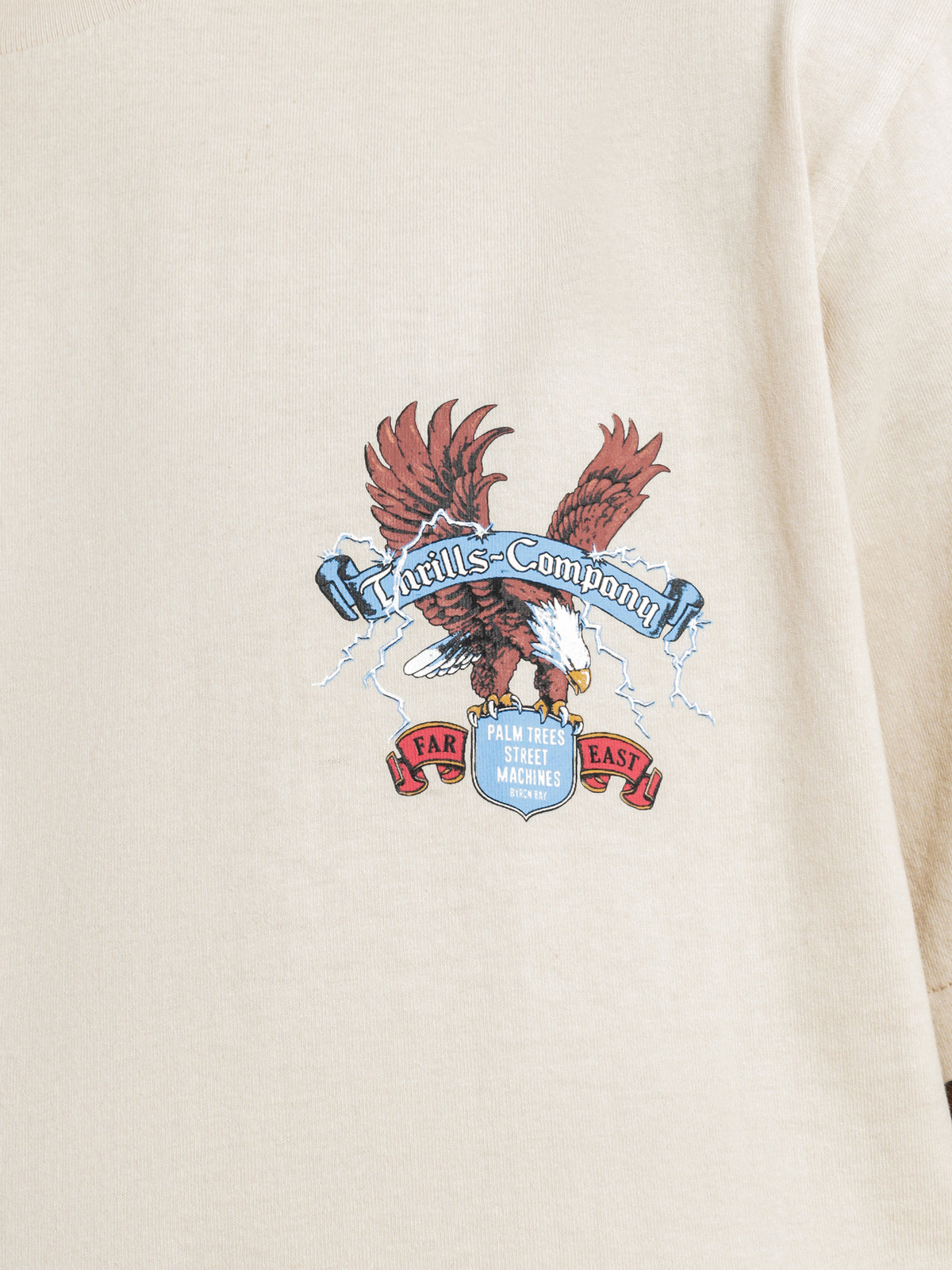 Electric Eagle Short Sleeve T-Shirt in Thrift White