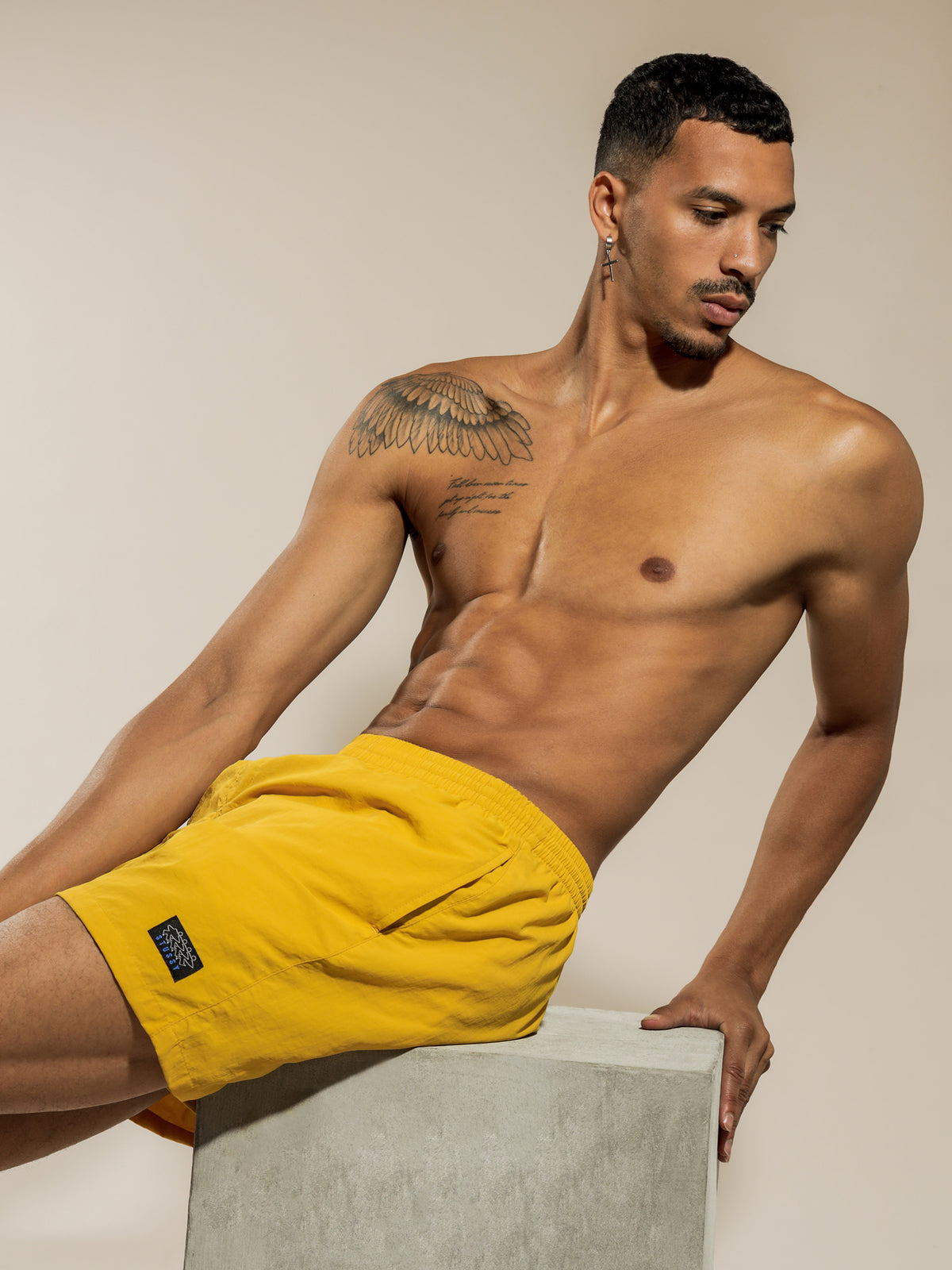 Nylon Big Beach Short in Butter Yellow
