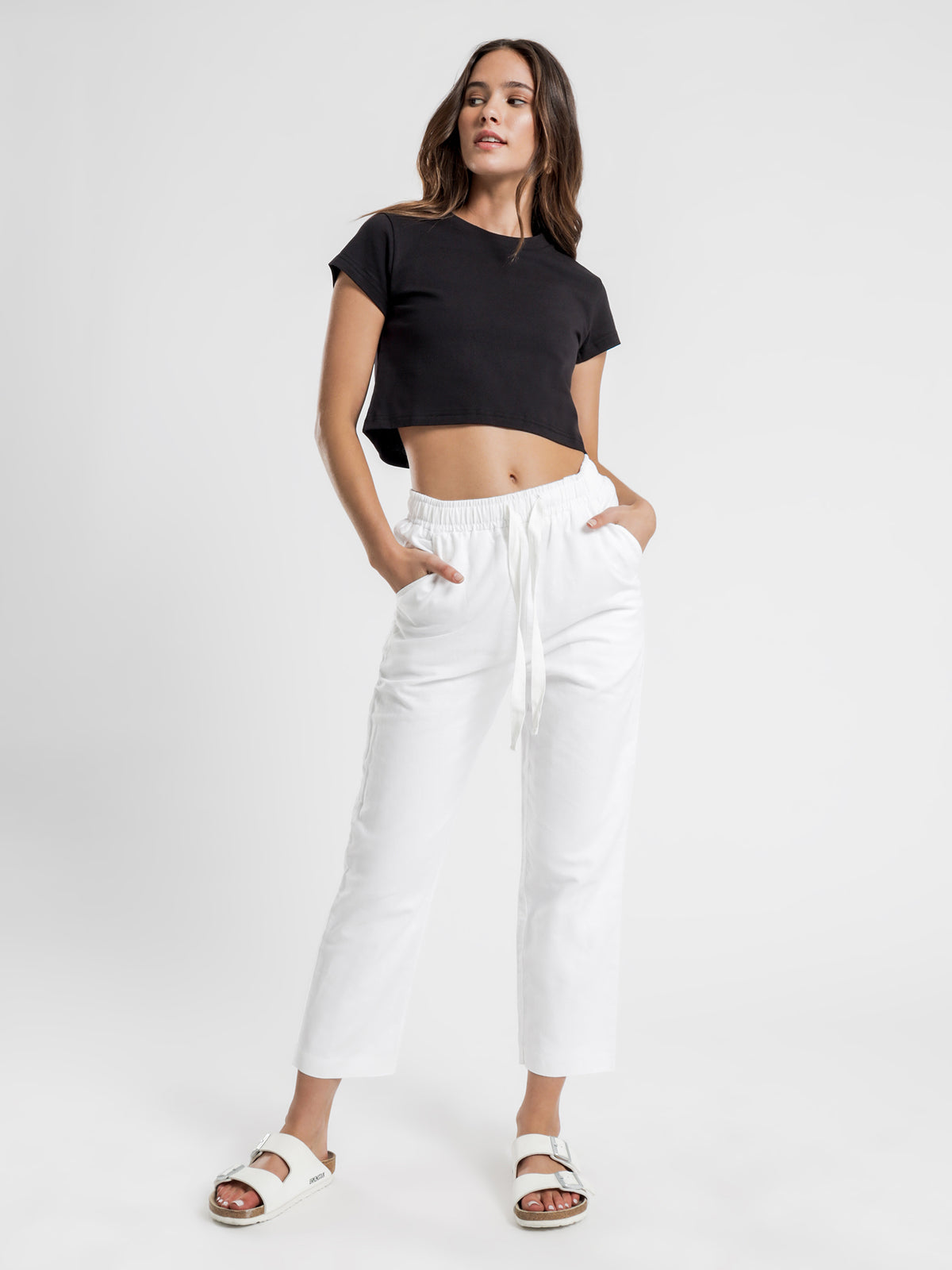 Kendall Crop T-Shirt in Black