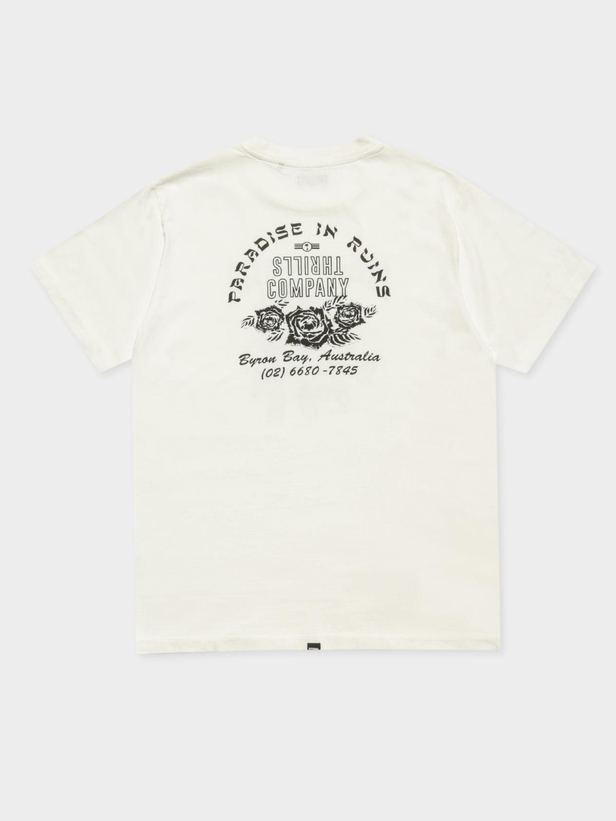 Feather Rose Merch T-Shirt in Dirty White