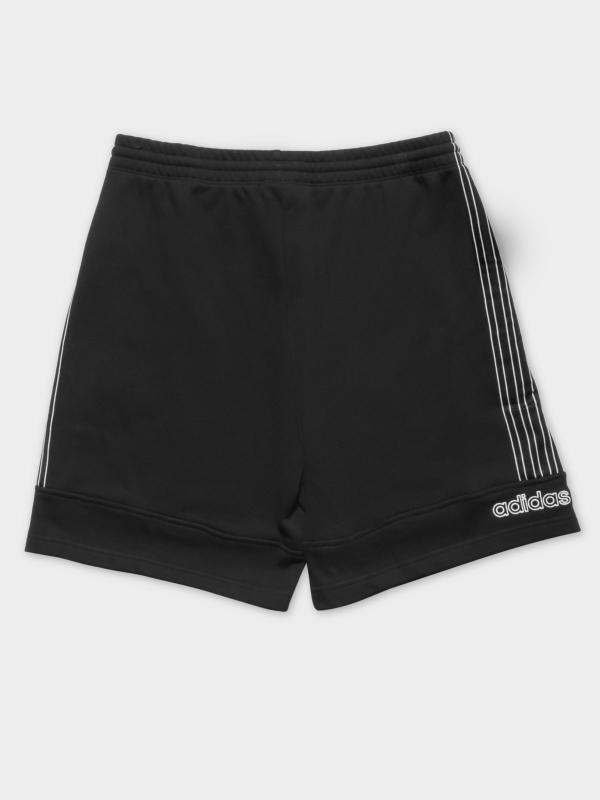 Sports Sweat Shorts in Black & White