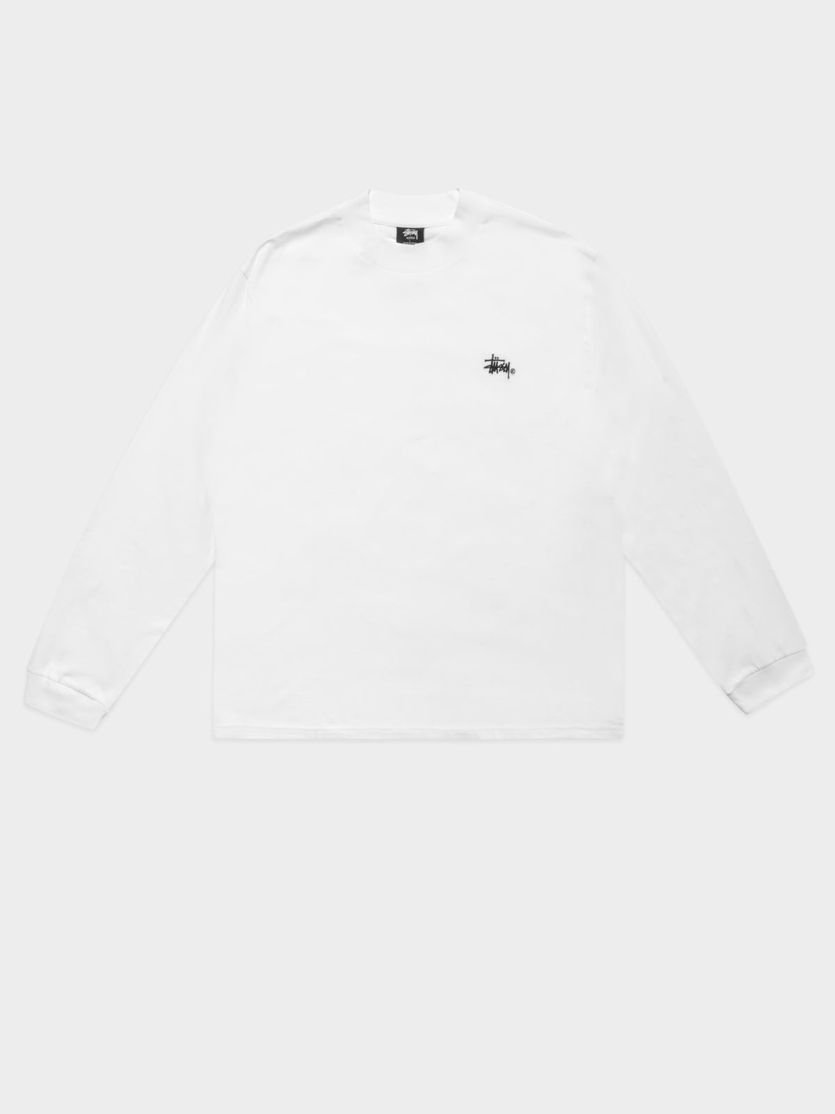 Mock Long Sleeve T-Shirt in Sol White
