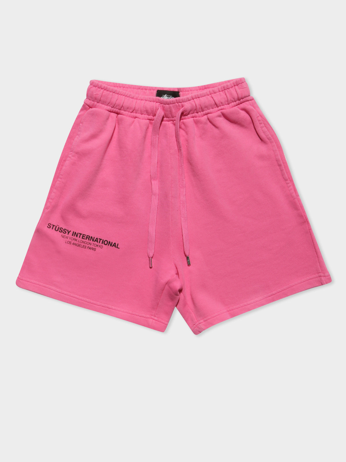 Text Low Waisted Shorts in Orchid