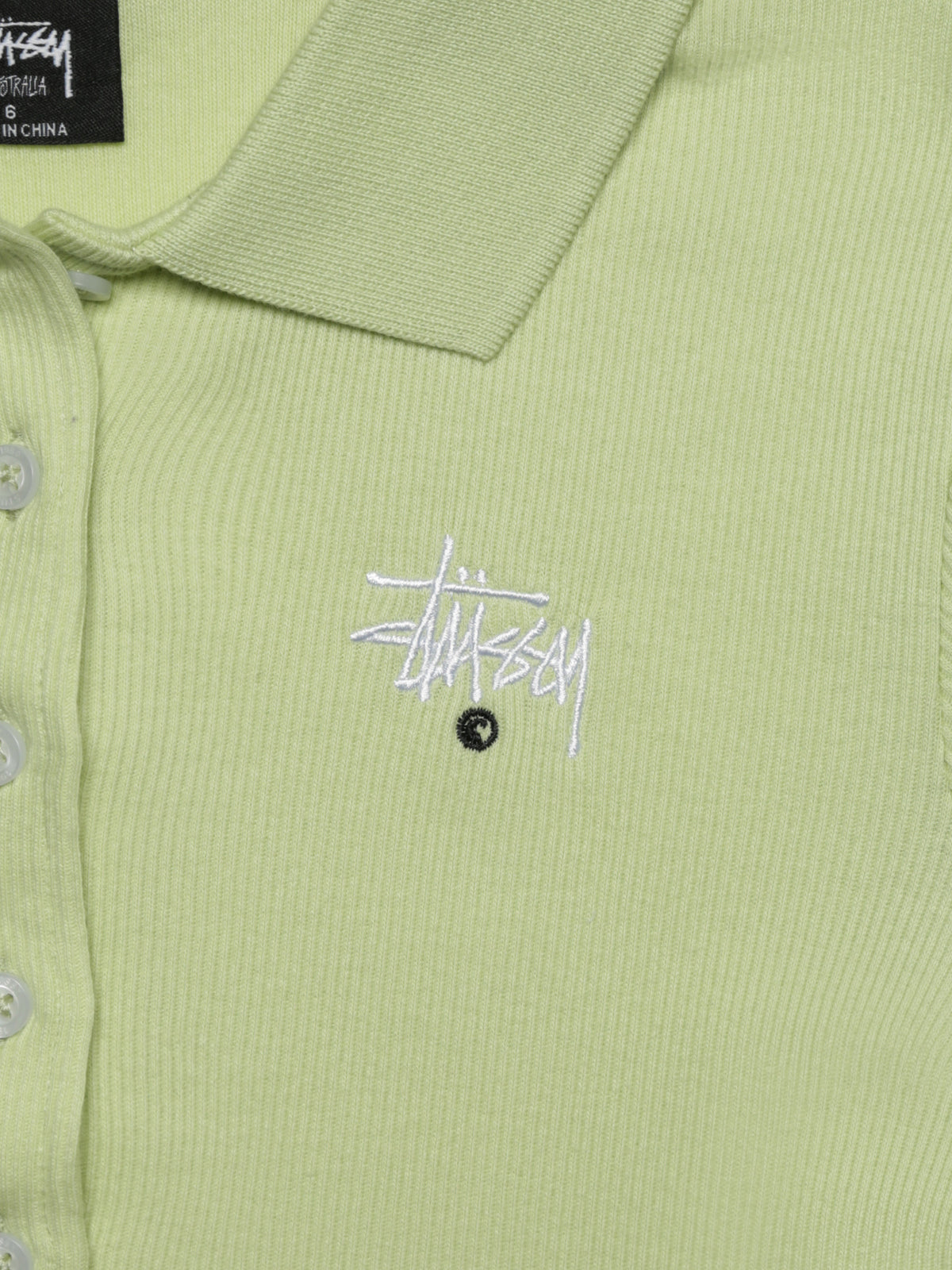 Parker Rib Shirt in Lime