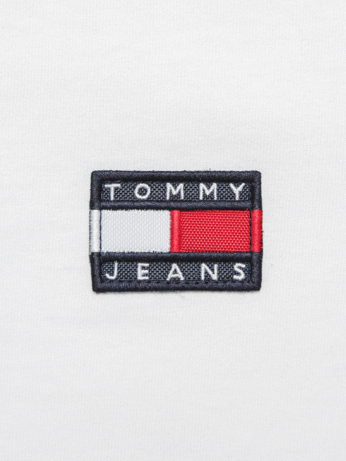 Tommy Badge Ringer T-Shirt in White