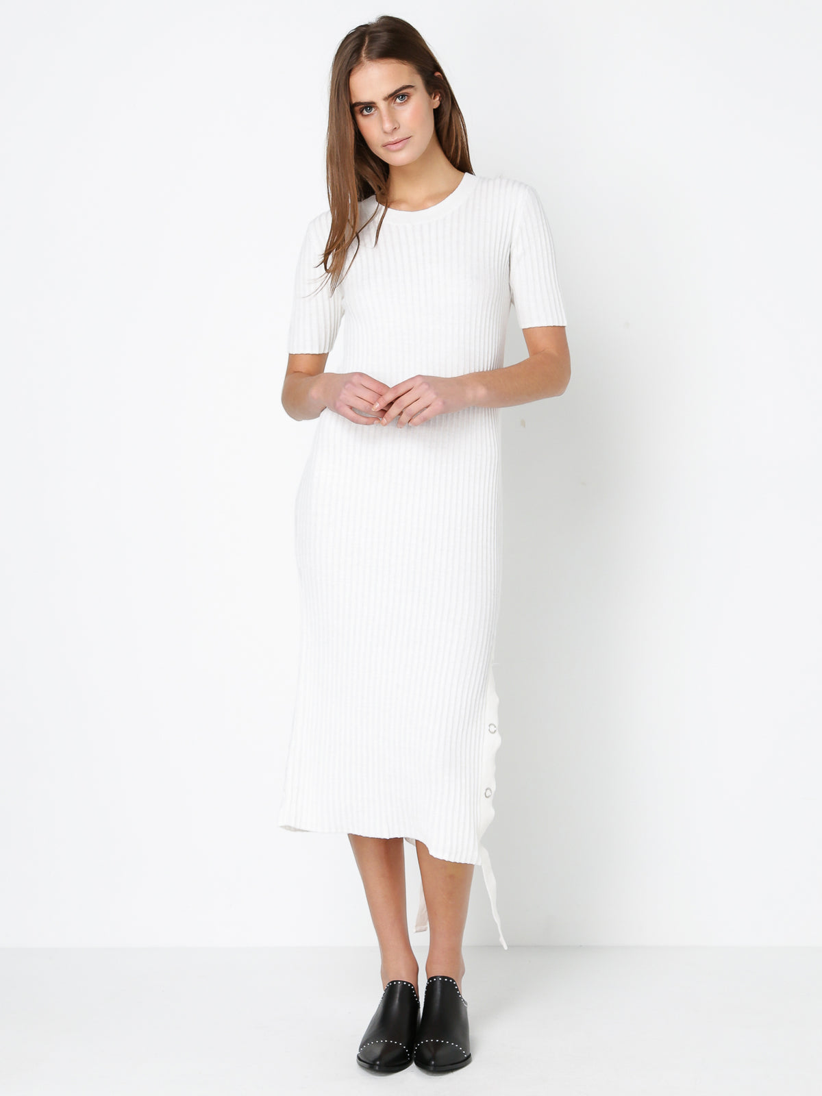 Astrom Knit Dress in White