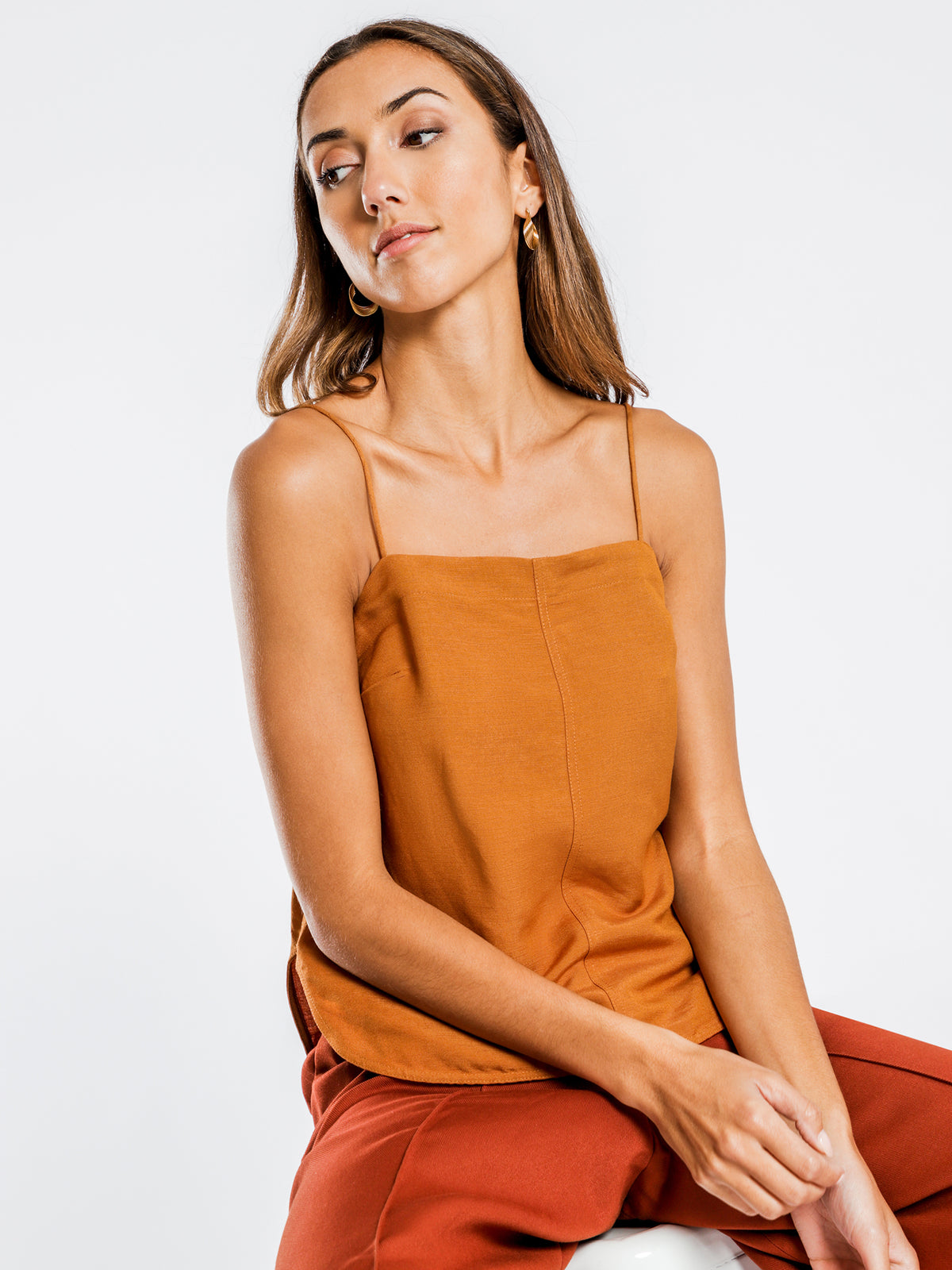 Iseul Structured Cami in Tan