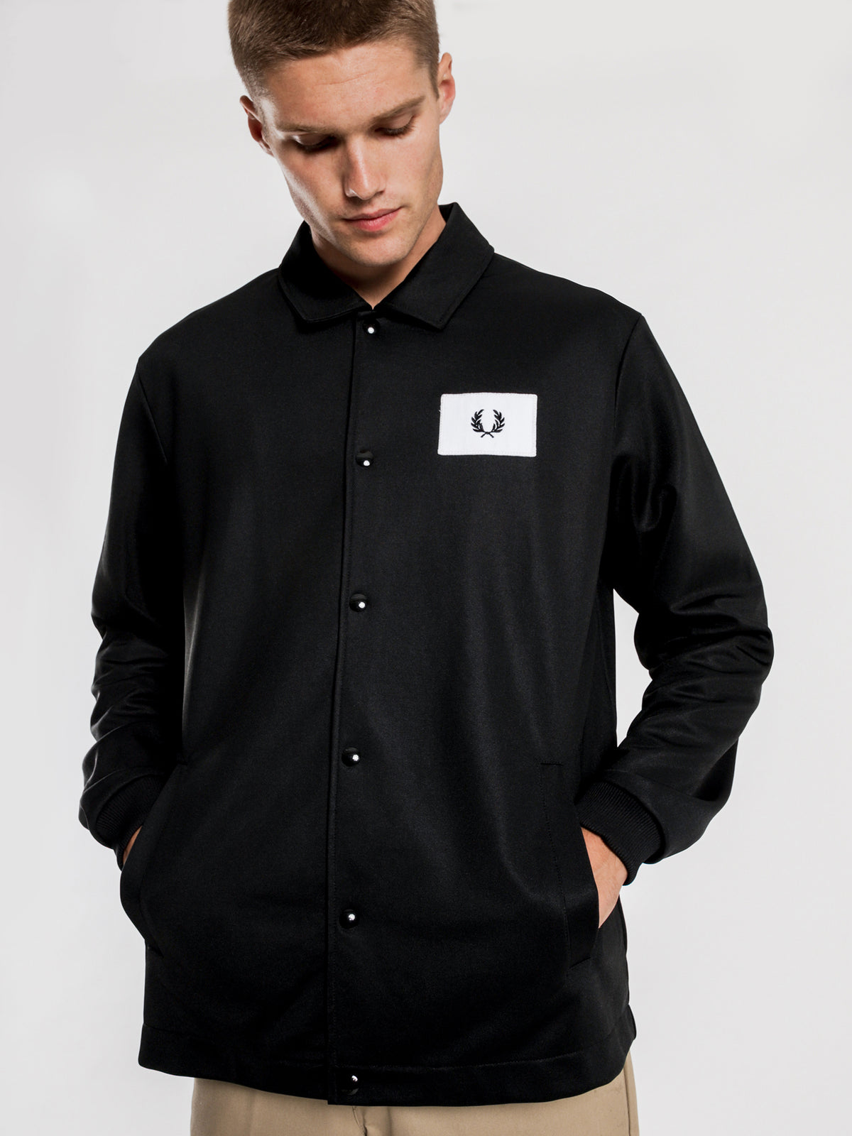Acid Brights Coach Jacket in Black