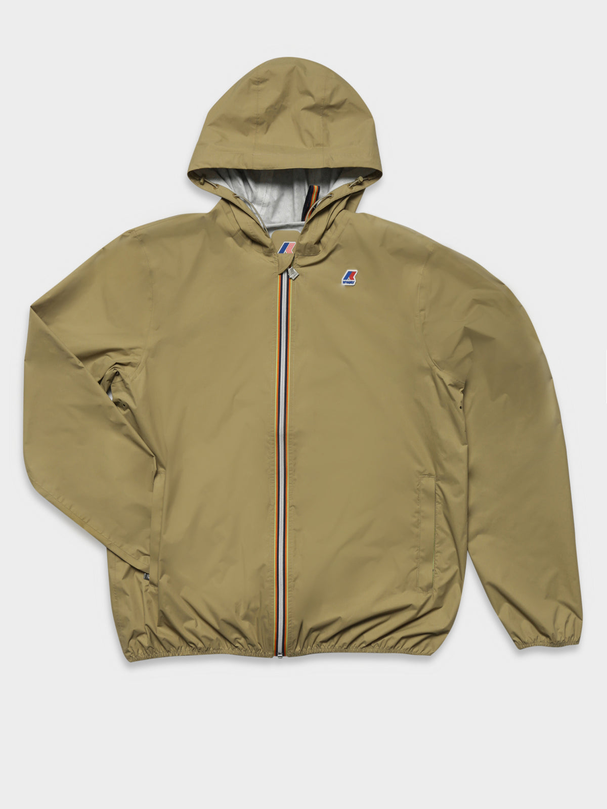 Jack Plus.Dot Packable Waterproof Rain Jacket in Beige Khaki