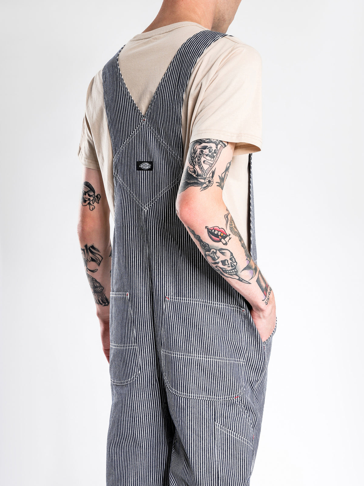 Kempton Hickory Bib Overall in Blue Stripe