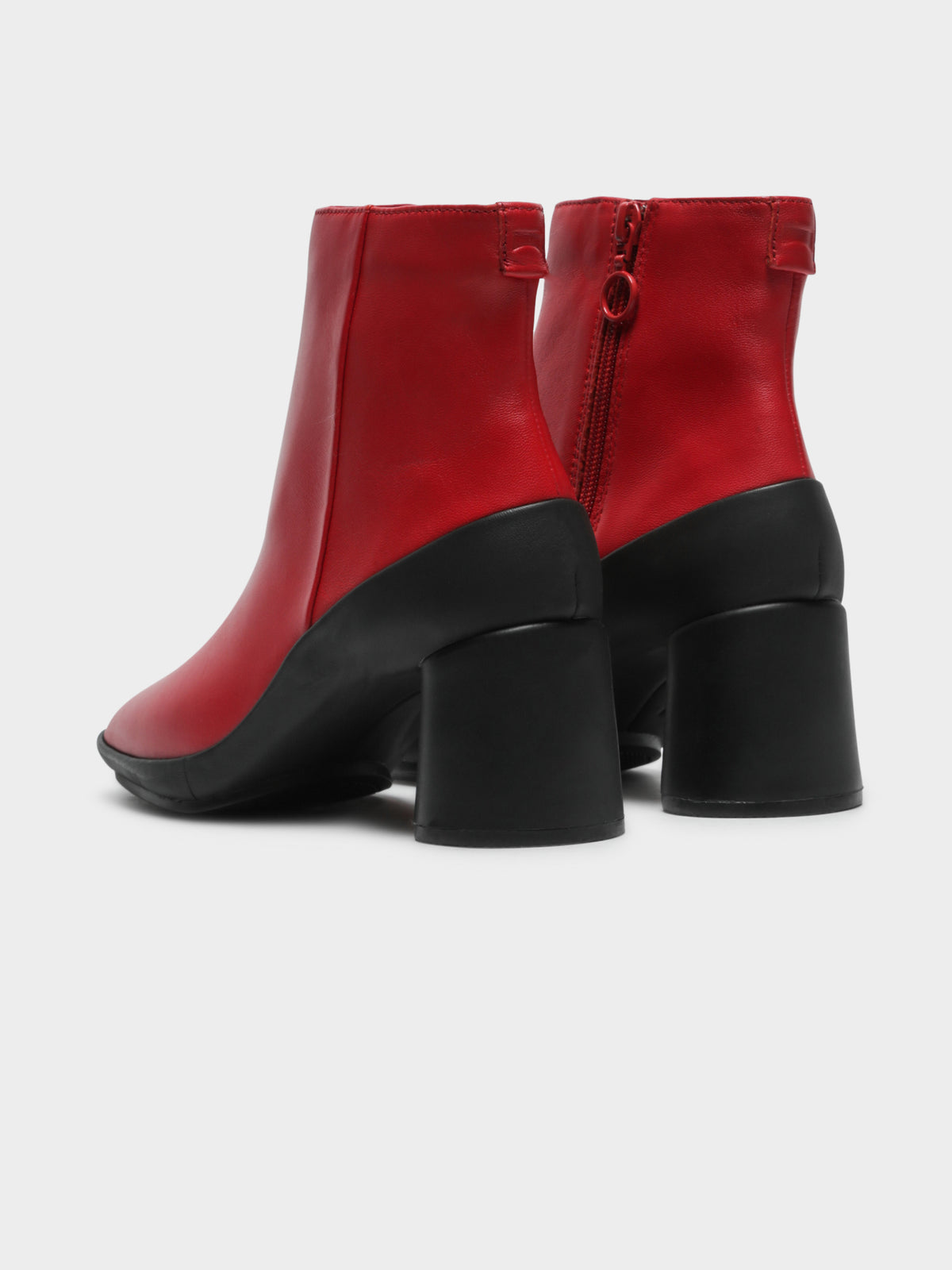 Womens Ankle Boots in Red & Black